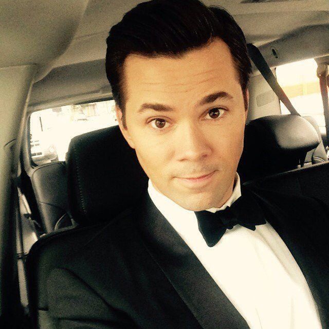 Pin for Later: Your Inside Look at the 2015 Golden Globes  Andrew Rannells decided to rock a bow tie for the evening.