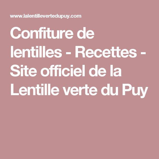 Confiture de lentilles - Recettes - Site officiel de la Lentille verte du Puy