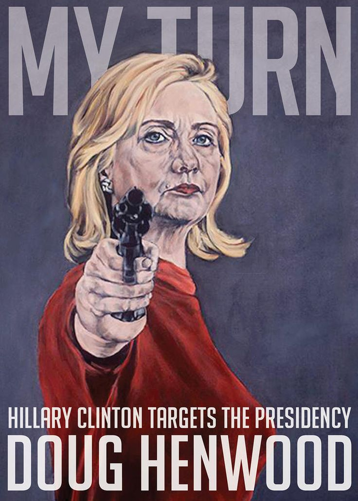 "The controversial cover of ""My Turn,"" Doug Henwood's new book about Hillary Clinton. (Photo by Sarah Sole/OR Books)"