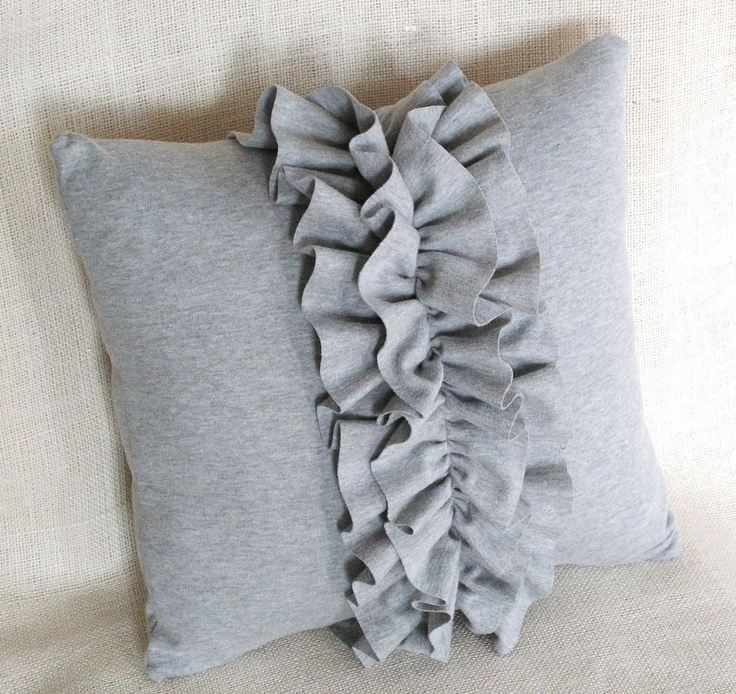 Ruffled Up Pillow Cover The o jays, Gray and The double