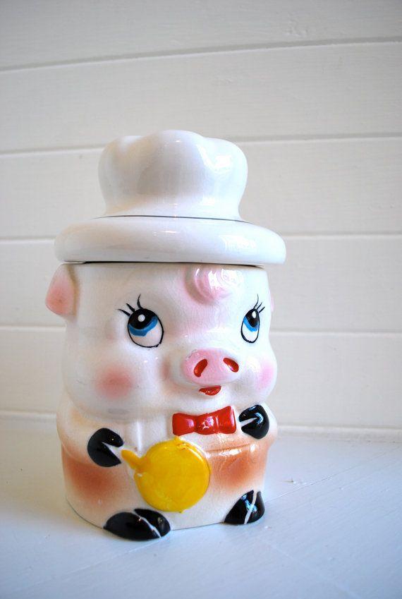 Vintage Piggy Cookie Jar