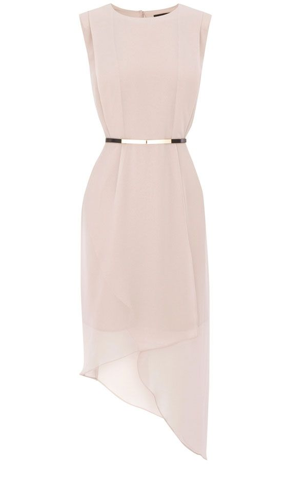Warehouse Wrap Skirt Asymmetric Dress, £60