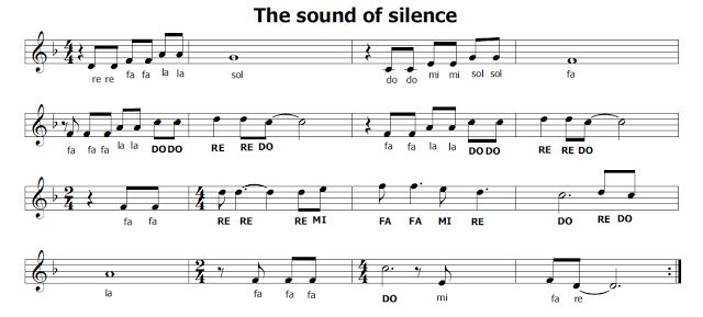 Musica e spartiti gratis per flauto dolce: The sound of silence