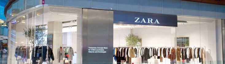 Could this be the Zara shop of the future?  Zara has launched a new click-and-collect pop-up store at Westfield Stratford shopping centre. The temporary concept store will be open while the brand's flagship is being refurbished and extended. It will be a merge between brick-and-mortar & e-shop.