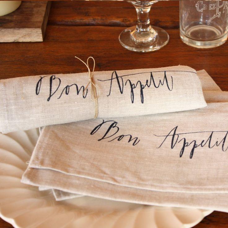 bon appetit napkins