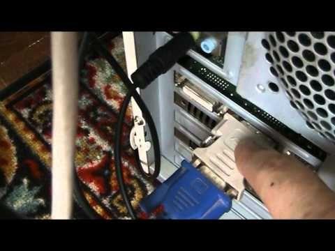 Подключение телевизора к компьютеру - YouTube