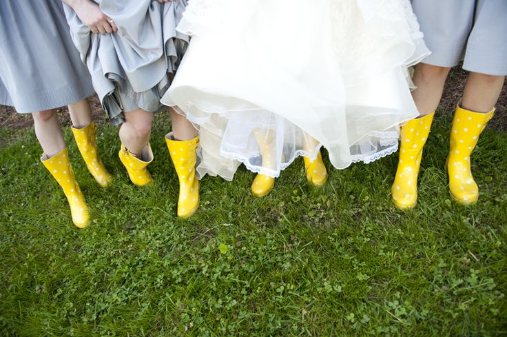 Wear cute wellies!