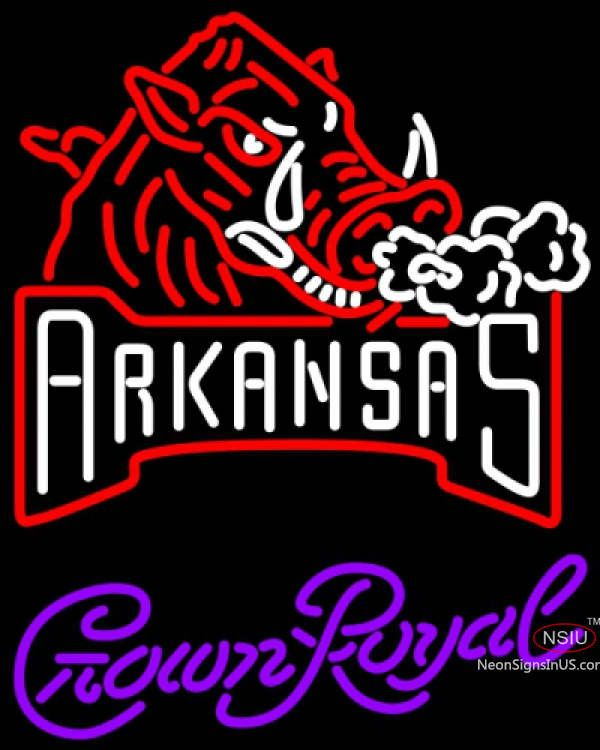 Crown Royal Arkansas Razorbacks UNIVERSITY Real Neon Glass Tube Neon Sign,Affordable and durable,Made in USA,if you want to get it ,please click the visit button or go to my website,you can get everything neon from us. based in CA USA, free shipping and 1 year warranty , 24/7 service