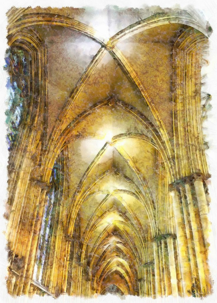 Inside York Minster Watercolor:Artwork and photography by Jason Hughes.11200 x 7392 pixels.JPEG file type, Buy, download and share on social media, web or print.