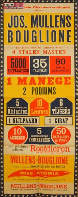 Circus collection: Cirque Jos. Mullens Bouglione 1952