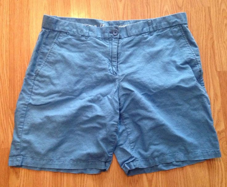 Gap Women's Blue Shorts Size 12 Boyfriend Roll Up Shorts Preowned USA SHIP  #GAP #CasualShorts