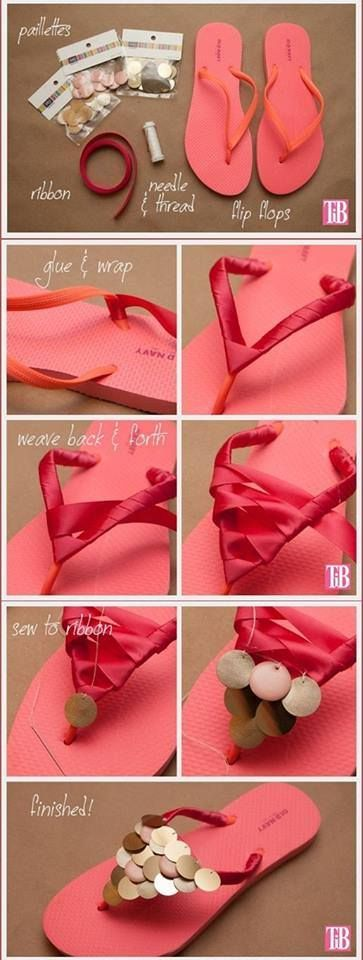 Customizing flip flops