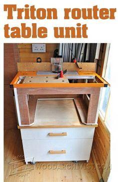 Triton Router Table Unit Plan - Router Tips, Jigs and Fixtures   WoodArchivist.com