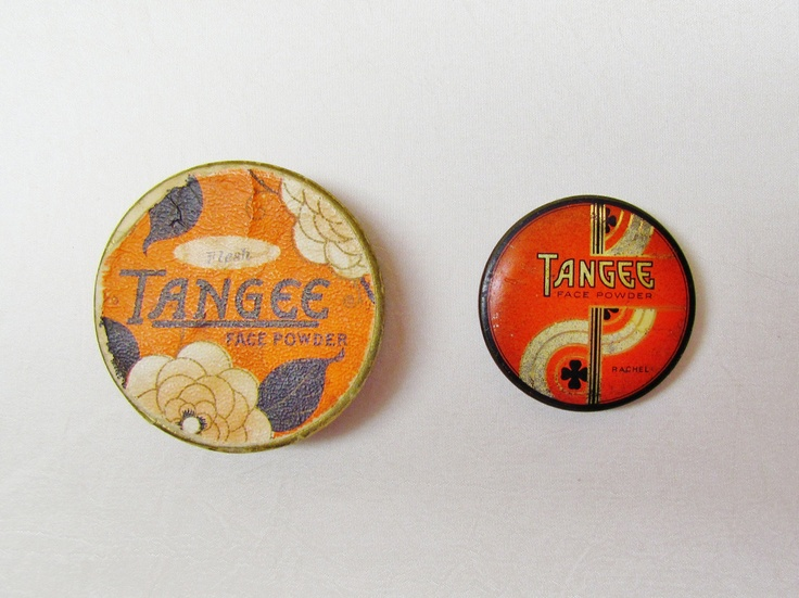 Vintage Tangee face powder containers - Art Deco, 1930's, 1 cardboard, 1 tin.  via Etsy.