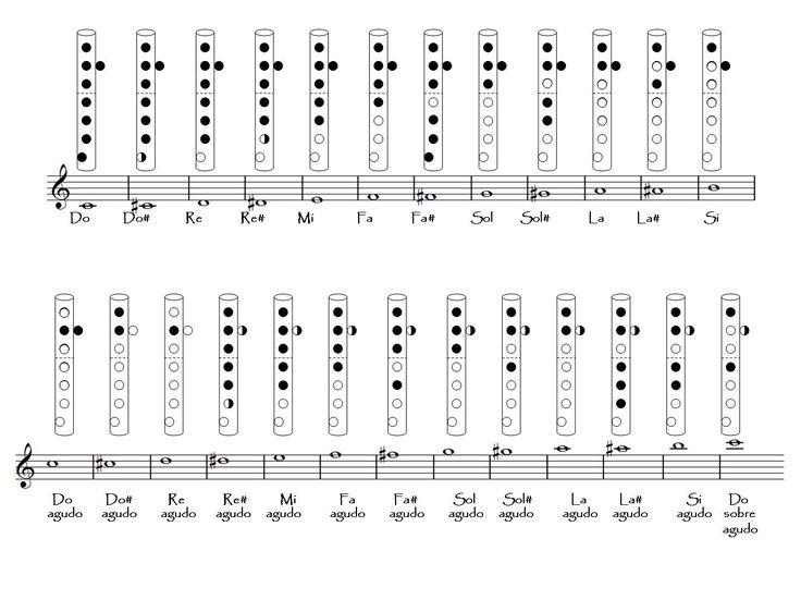 Resultado de imagem para notas musicais flauta doce
