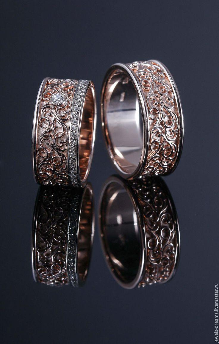 """Купить Обручальное кольцо """"Изящное"""" - золотой, обручальное кольцо, обручальные кольца, золотое кольцо"""