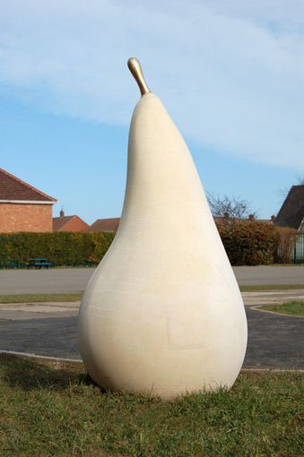Pear Sculpture - Cast stone