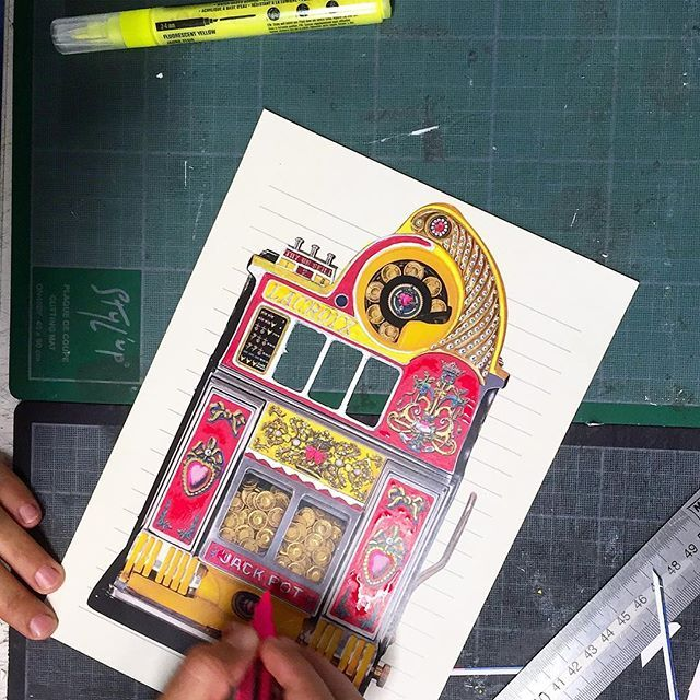 Work in progress! ✂️📕🔗🖌🖍📝 📏 Do you know which Christian Lacroix's collection this product is from? More coming soon... #ChristianLacroix #WorkInProgress #BehindTheScene #Play #Casino #Jackpot #Creation #Design #DesignStudio #Backstage