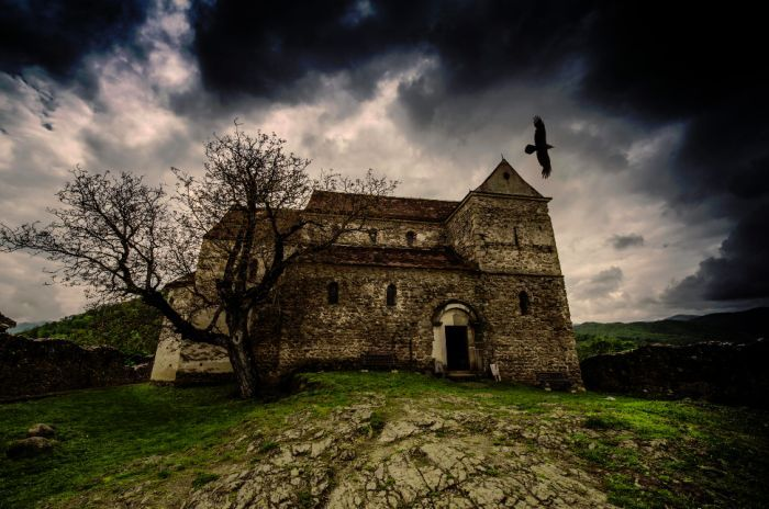 an old church from Transylvania