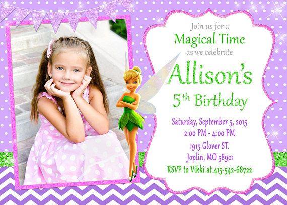 TinkerBell invitación cumpleaños fiesta de TinkerBell