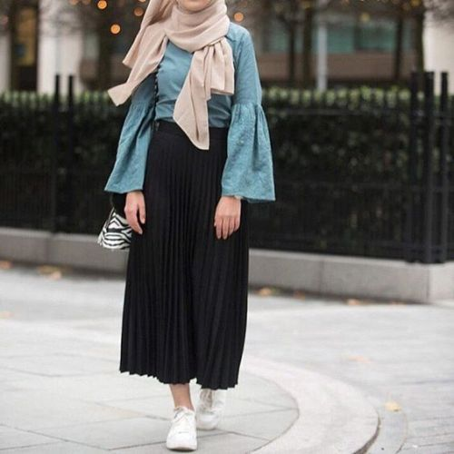 Ruffle blouses with hijab – Just Trendy Girls