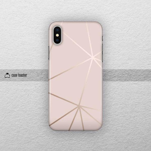 Rose Gold Iphone 8 Case Iphone X Tough Case Iphone 7 Plus Case Iphone 16 Liked On Polyvore Rose Gold Iphone Case Rose Gold Iphone Geometric Iphone Case