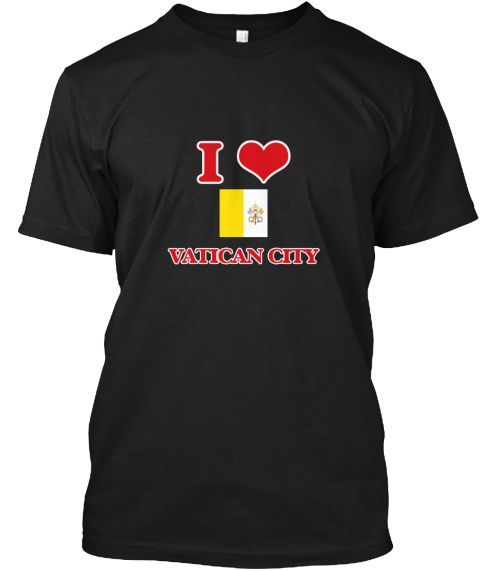 I Love Vatican City Black T-Shirt Front - This is the perfect gift for someone who loves Vatican City. Thank you for visiting my page (Related terms: I Heart Vatican City,Vatican City,Vatican City,Vatican City Travel,I Love My Country,Vatican City Fl #Vatican City, #Vatican Cityshirts...)