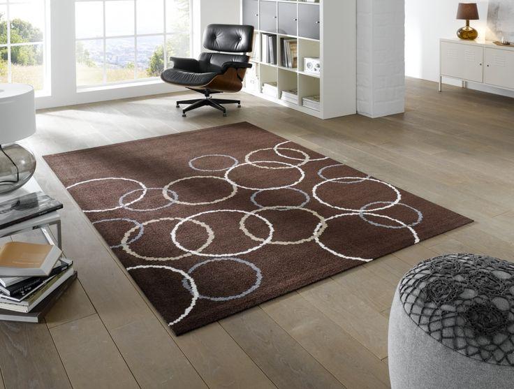 wash+dry Loopy Brown #waschbarer #Teppich Teppiche \ Auslegware