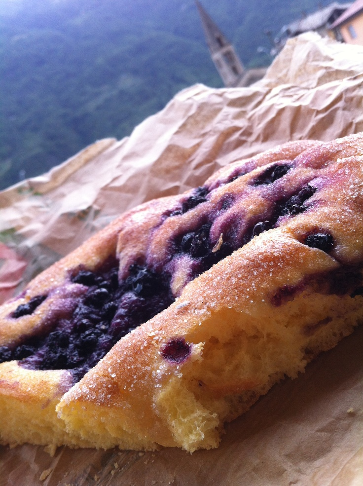 Sweet dried blueberry focaccia!
