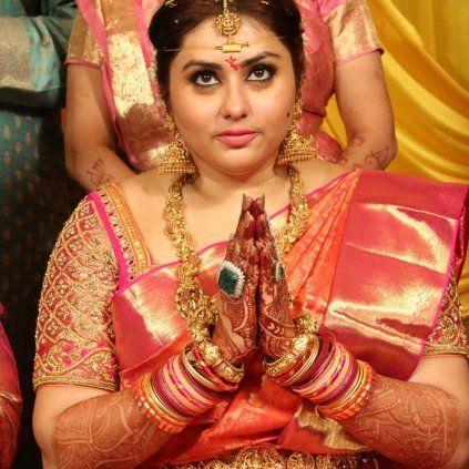 Namitha Gets Married Today. #NamithaMarriage #Namitha #ActorVeerendra #StarsMarriage #CineUpdate #ChennaiUngalKaiyil