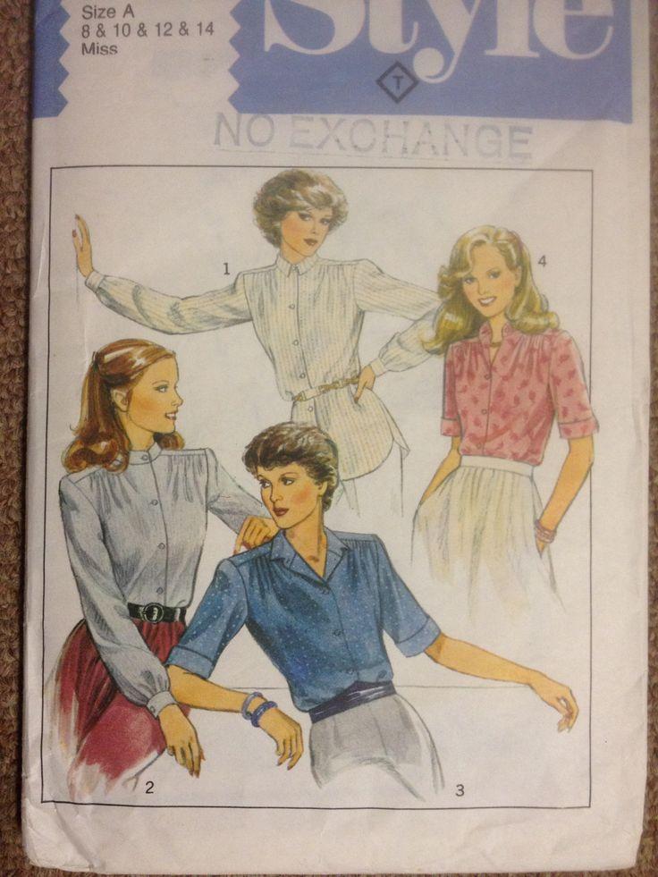 Style 3096, Misses set of shirts, Sz 8-14 (31.5-36), 1983