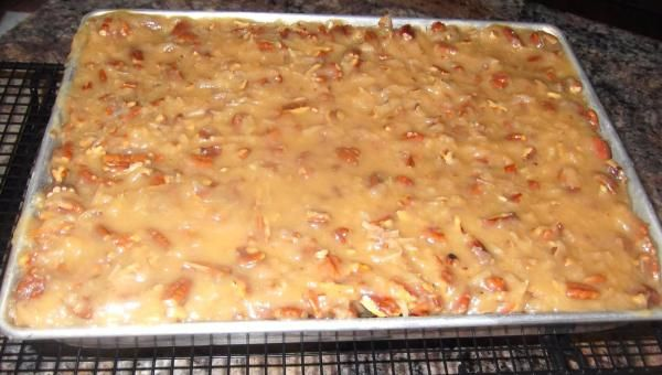 1950's Homemade German Chocolate Sheet Cake -  Totally scratch recipe, NO cake mix or canned frosting here!