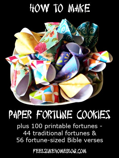 Paper Fortune Cookie Tutorial - Super easy to make! - Great for Chinese New Year, coming up soon!