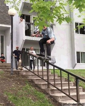 Close call skateboard fail | Gif Finder – Find and Share funny animated gifs