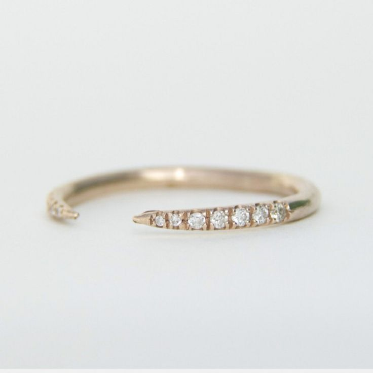 ideas dainty rose concept rings images pave minimalist stackable ring gold of bar wedding diamond stack awesome