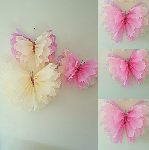 Girls birthday party room decorations nursery bedroom 3 hanging butterflies in Home, Furniture & DIY, Celebrations & Occasions, Party Supplies | eBay