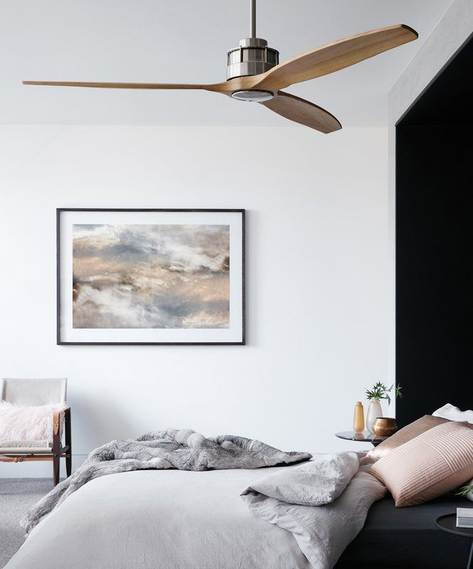 60 Hutton 3 Blade Ceiling Fan With Remote Ceiling Fan Bedroom Living Room Ceiling Fan Home Ceiling