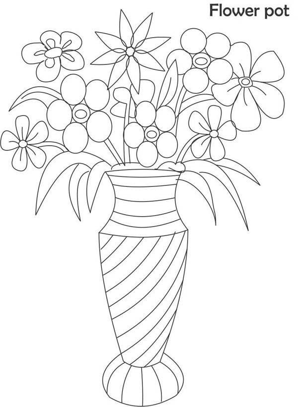 Resultado De Imagem Para Vaso De Flores Para Colorir Ausmalbilder Malvorlagen Blumen Wenn Du Mal Buch