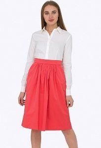 Расклешенная юбка кораллового цвета Emka-Fashion 680/lisel