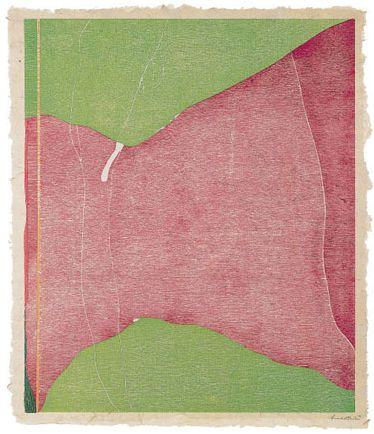 savage breeze, woodcut, 1974  Helen Frankenthaler