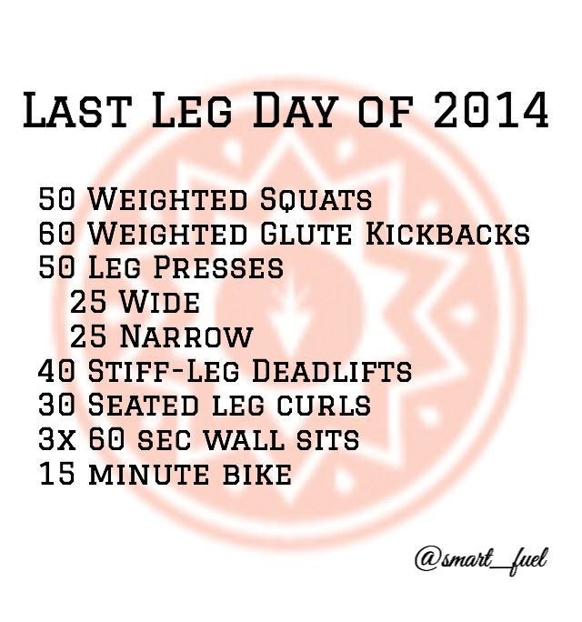Shake off the Holiday guilt and bloat with your Last Leg Day of 2014! #smartfuel #smartfuelyyc #workout #detox #cleanse #vegan #vegetarian #paleo #crossfit #legday #squats #yyc #calgary #healthyyyc