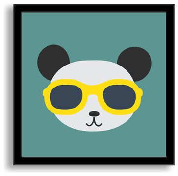 Cool Panda Framed Paper Art contemporary-kids-wall-decor