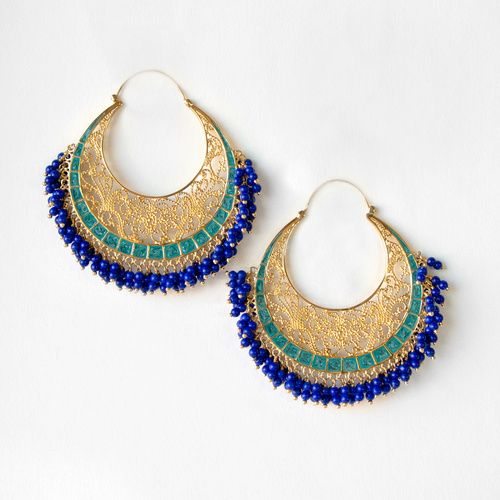 Isharya's Moon Bali filigree hoop earrings