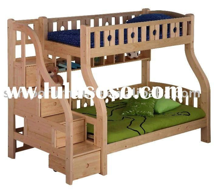 Bunk bed plans design and nice on pinterest for Bunk bed woodworking plans