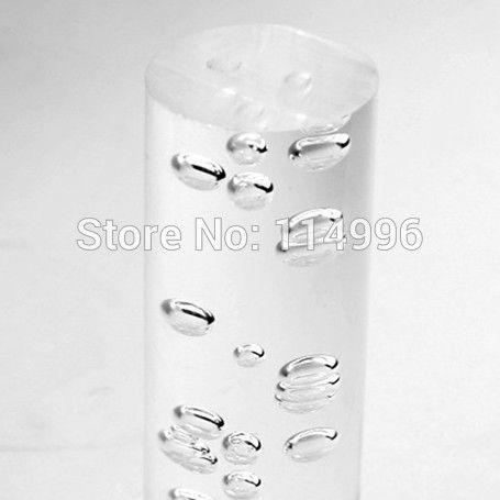 (14ピース/ロット) diam 40 × 1000ミリメートルアクリル気泡ロッド押出プラスチックスティック透明バークリアバブル内部をロッド