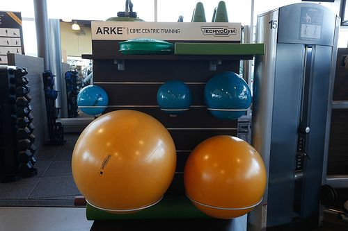 Stability balls and core centric training equipment, available to fitness members in Centennial Community Centre | Flickr - Photo Sharing!