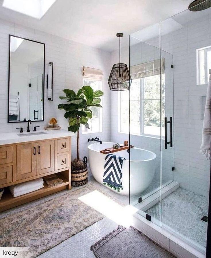 Large Modern Wall Mirror Bathroom Vanity Decorative Industrial Rectangle Steel Framed Frameless Idees Salle De Bain Idee Salle De Bain Decoration Salle De Bain