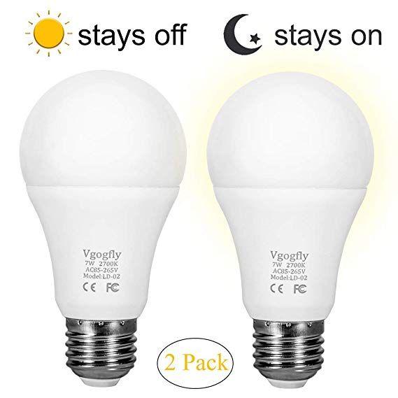 Sensor Lights Bulb Dusk To Dawn Led Light Bulbs Smart Lighting Lamp 7w E26 E27 Automatic On Off Indoor Outdoor Yard Porch Patio Garag