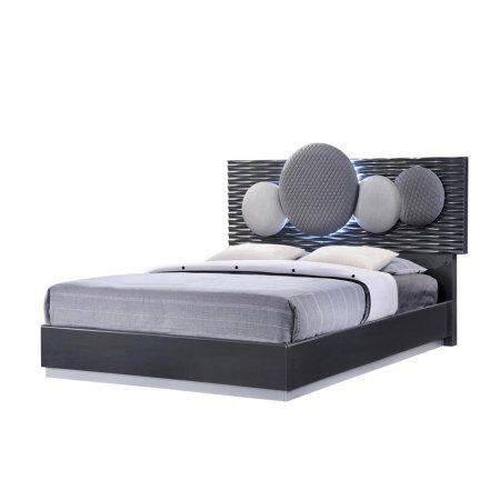 Global Furniture Dolce Platform Bed in Dark Grey - (Queen)