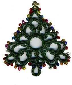 beaded tatting - Christmas tree: